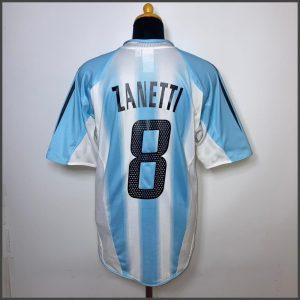 2004 05 Argentina Home Zanetti 8 Excellent M 331733 Adidas