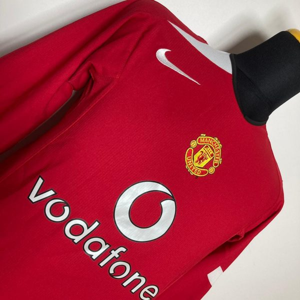 2004 06 Manchester United Home LS Very Good S Nike 2