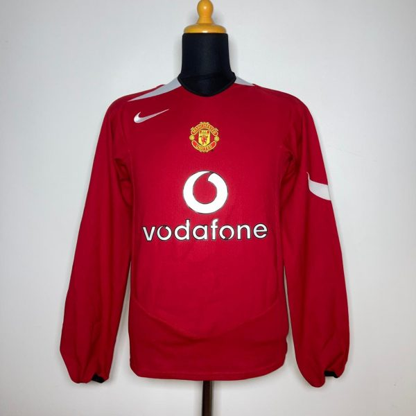 2004 06 Manchester United Home LS Very Good S Nike